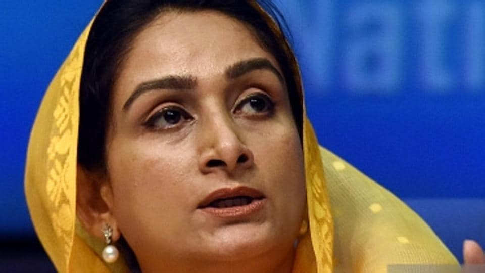 Union food processing minister Harsimrat Kaur Badal