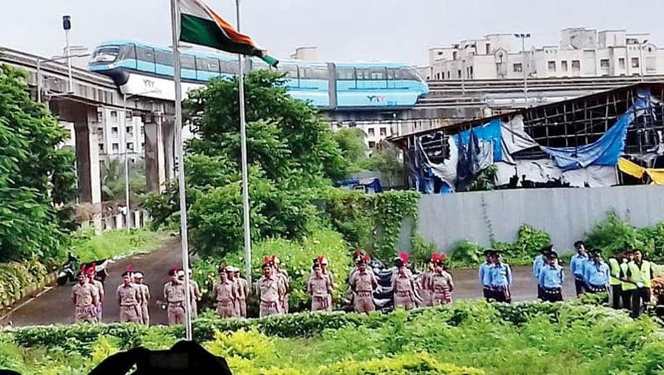 Monorail trials carried out between Wadala and Acharya Atre Nagar on August 15 last year.