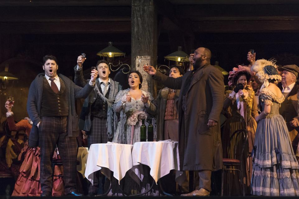 The cast of La Boheme at the Met Opera, which had its last show early this January.