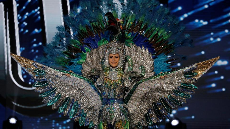 Miss Universe candidate from Nicaragua Marina Jacoby competes during a national costume preliminary competition in Pasay, Metro Manila, Philippines. (REUTERS)