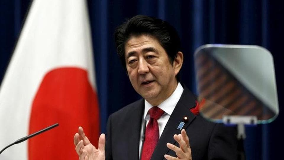 Japan's Prime Minister Shinzo Abe speaks during a news conference at his official residence in Tokyo, Japan.