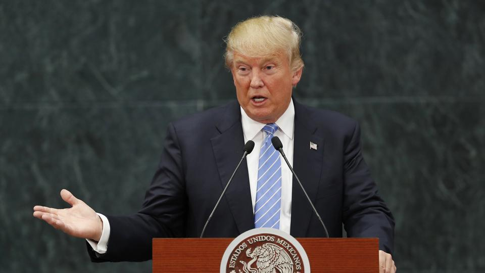 USPresident Donald Trump has vowed to build up the military, which he says has become dangerously depleted.