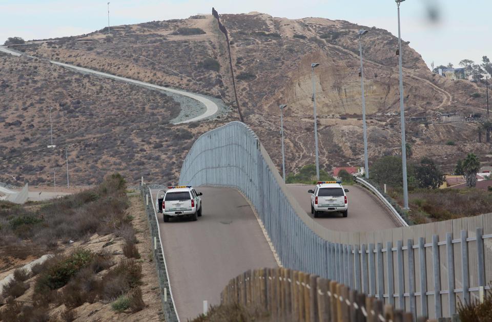 Border patrol agents patrolling the United States-Mexico border wall. (AFP File Photo)
