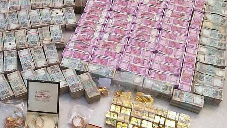 Gujarat Police arrested a Sadhvi  after cash, gold bars and liquor were found at her residence.