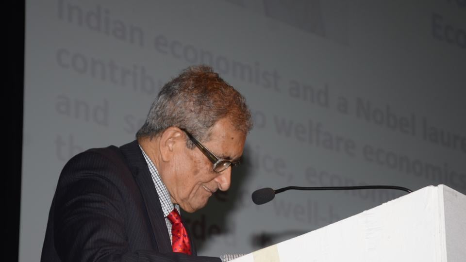 """Why is there a total deficit of public discussion on healthcare in India?"" asked Nobel laureate Amartya Sen at a conference organised by Tata Memorial Centre to mark its 75th anniversary."