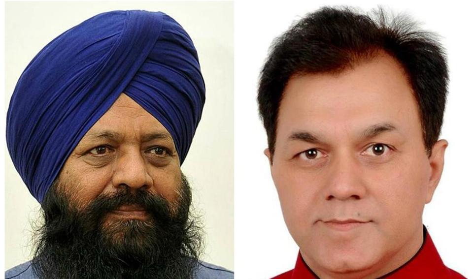Sohan Singh Thandal and (left) Dr Raj Kumar.