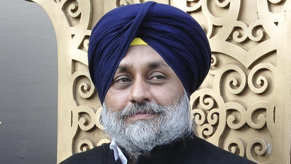 SAD president and Punjab deputy chief minister Sukhbir Singh Badal.