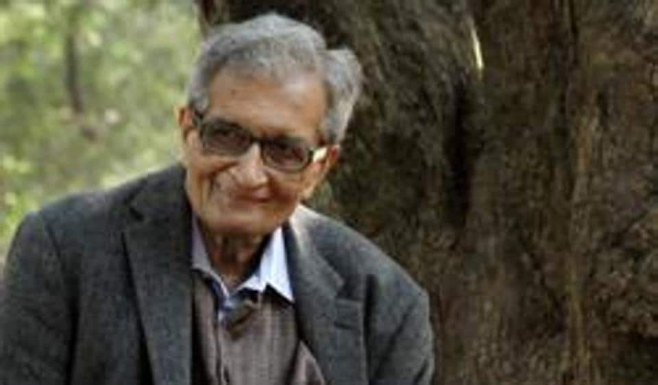 File photo of nobel laureate Amartya Sen during a shooting for a documentary film on him.