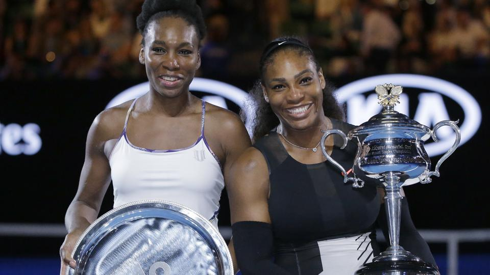 Serena Williams surpassed Steffi Graf by capturing a record 23rd Grand Slam after beating sister Venus 6-4, 6-4 in the Australian Open final on Saturday.  (AP)