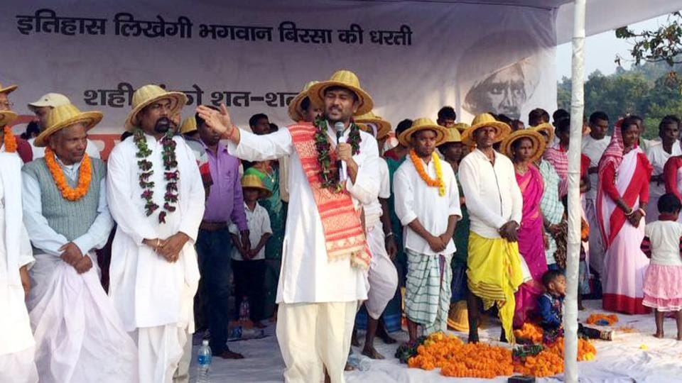 AJSU party leaders promoting the bamboo hats, traditional dress at a party function in Ulihatu
