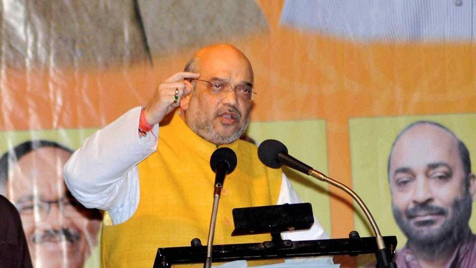 BJP President Amit Shah released the party's election manifesto for Uttar Pradesh in Lucknow.