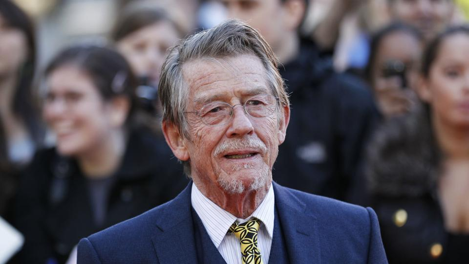This 2011, file photo shows British actor and cast member John Hurt arriving for the UK film premiere of Tinker Tailor Soldier Spy at the BFI Southbank in London. Hurt's agent Charles McDonald says the actor, who battled pancreatic cancer, died Friday in London.