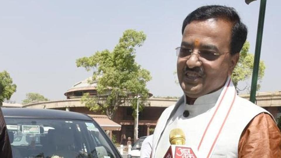 State unit chief Keshav Prasad Maurya in the Parliament House, in New Delhi.