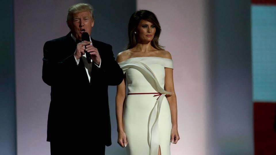 President Donald Trump and First Lady Melania Trump attend the Liberty Inaugural Ball in Washington on January 20, 2017.