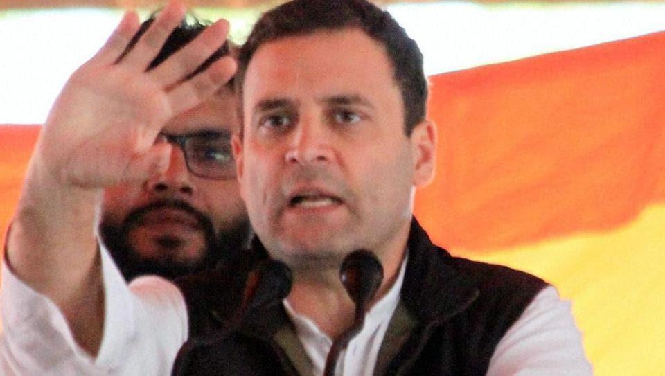 Congress Vice President Rahul Gandhi at an election rally on Jan 28, 2017.  Gandhi represents Uttar Pradesh's Amethi constituency in the Lok Sabha.