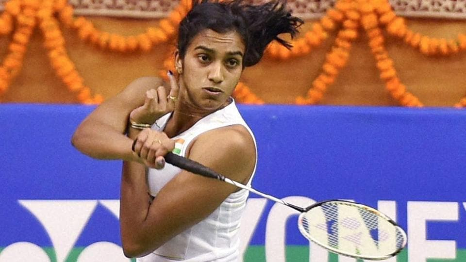 P V Sindhu beat Fitriani Fitrani of Indonesia in straight games to enter the final of the Syde Modi International Grand Prix Gold badminton tournament at at Babu Babarasi Das Indoor Stadium in Lucknow on Saturday.