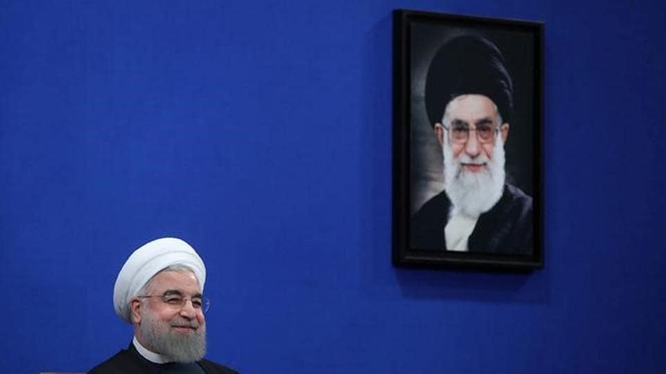 Iran's President Hassan Rouhani attends a news conference in Tehran.