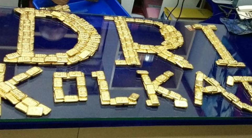 During searches DRI  recovered 354 pieces of gold bars weighing 41 kgs. The market price of the gold is over Rs 12 Crore