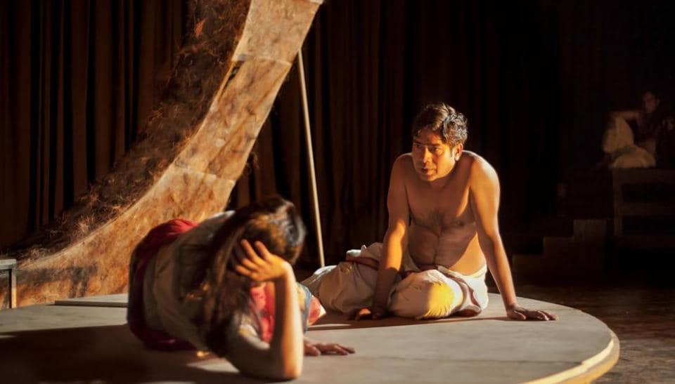 Sandeep Shikhar in a still from the play.