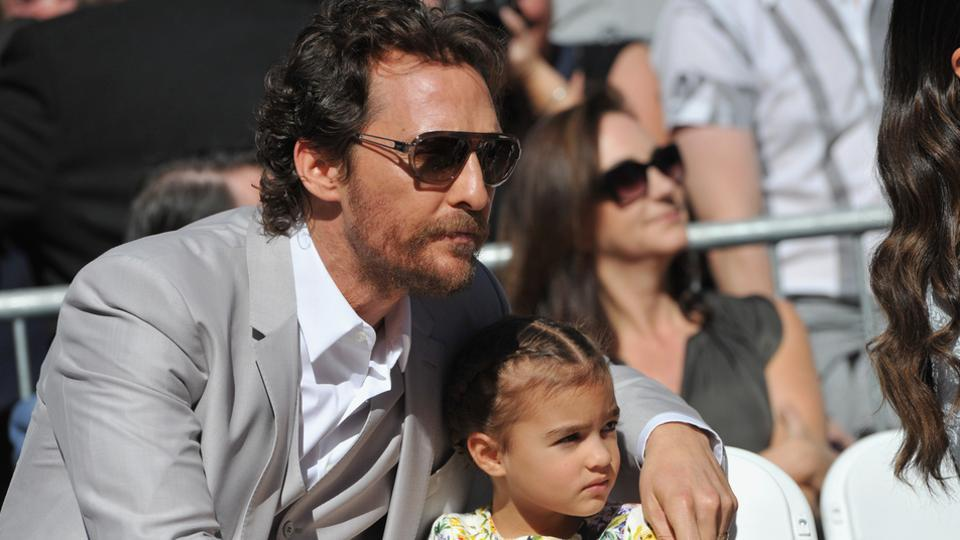 Matthew McConaughey and his daughter
