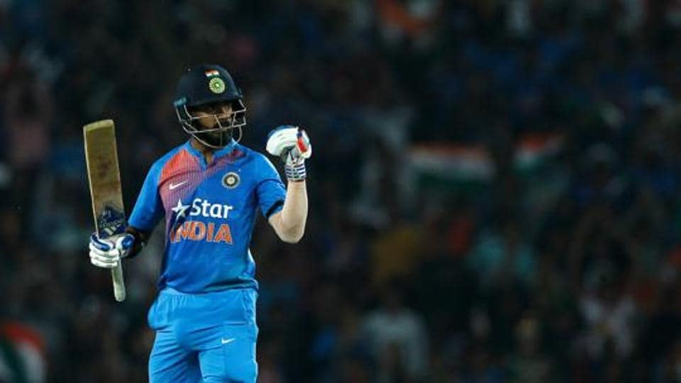 KL Rahul top-scored for India with a 71 against England in the second T20I in Nagpur.