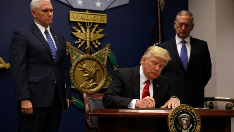 US President Trump has signed three more executive actions that focussed on lobbying ban, reorganization of the National Security Council (NSC) and a plan to defeat the Islamic State.