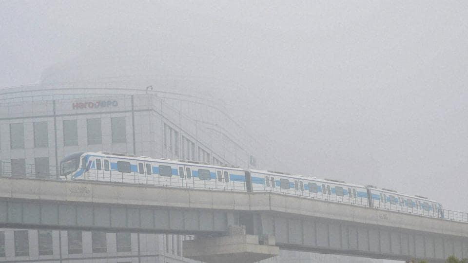 A foggy morning in Gurugram.
