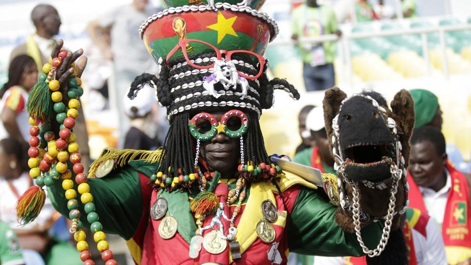 Burkina Faso supporter ahead of a match against Tunisia, during their African Cup of Nations group quarter finals match between Burkina Faso and Tunisia at the Stade de l'Amitie, in Libreville, Gabon, Saturday Jan 28, 2017. (Sunday Alamba / AP)