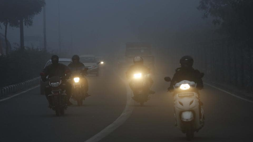 The visibility is expected to be below 50 metres on Monday.
