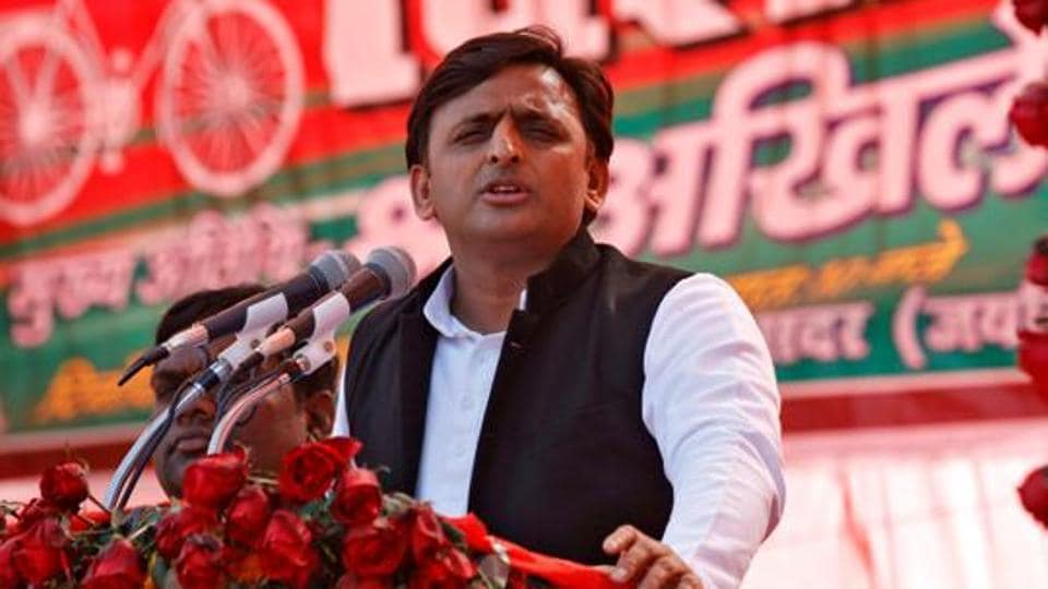 Samajwadi Party (SP) president and UPchief minister Akhilesh Yadav at an election campaign rally in Sultanpur, on January 24, 2017.
