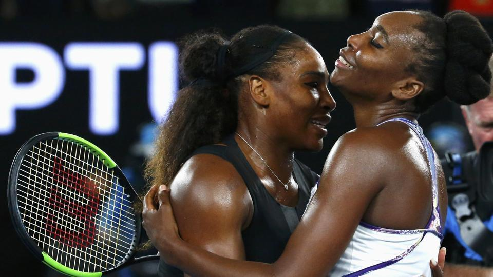 Serena Williams embraces her sister Venus Williams  after winning her the Women's singles final match against her at the Australian Open  in Melbourne Park, Melbourne, Australia on 28 January, 2017.  (Edgar Su / REUTERS)