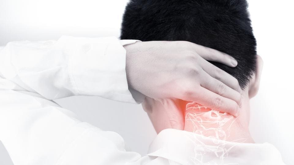 Cervical spondylosis can be contained by exercising, giving fomentation and taking medicines.