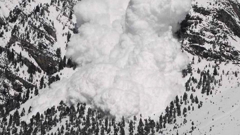 A view of the site of an avalanche that took place in Gurez sector of Jammu and Kashmir last week.