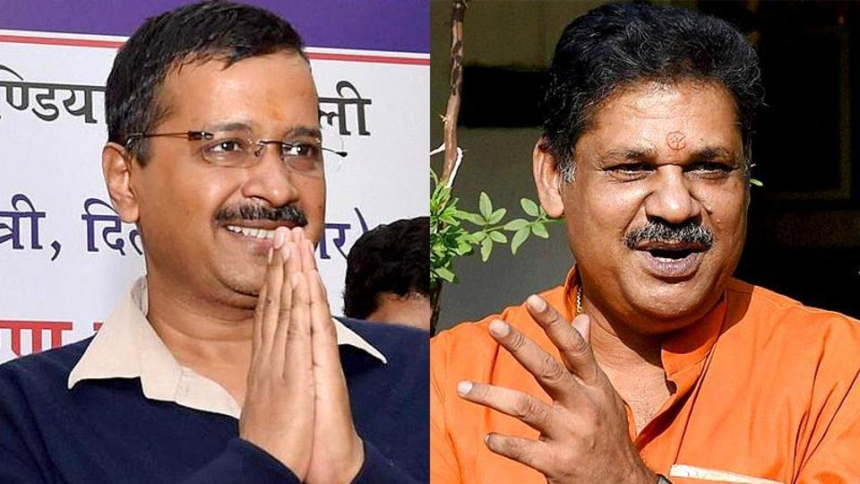 Combination photograph of Delhi chief minister Arvind Kejriwal and former BJP leader Kirti Azad.