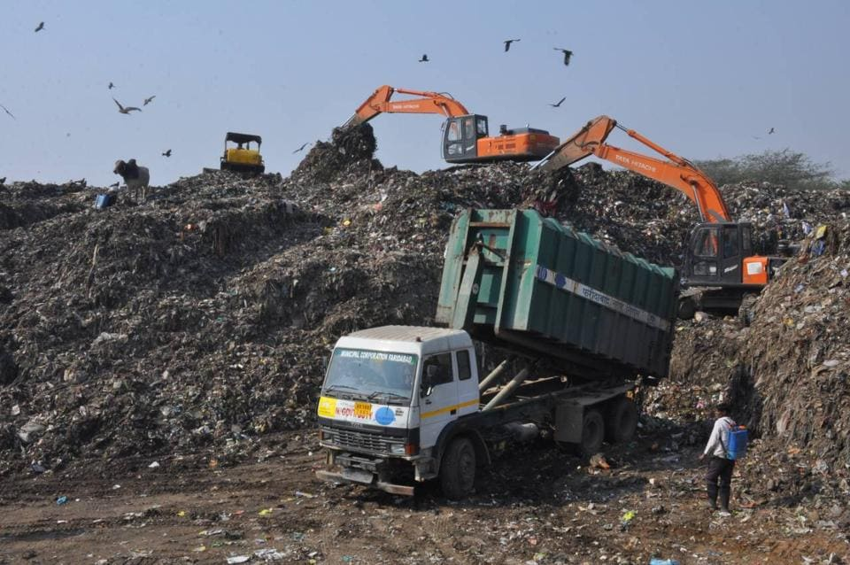 Over 1,500 tonnes of waste from Gurgaon and Faridabad is being dumped at the plant which was designed to process only 600 tonnes every day.