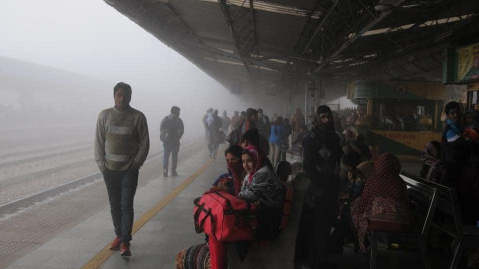 Dense fog inDelhi brought down visibility leading to delays and cancellations on Monday morning.