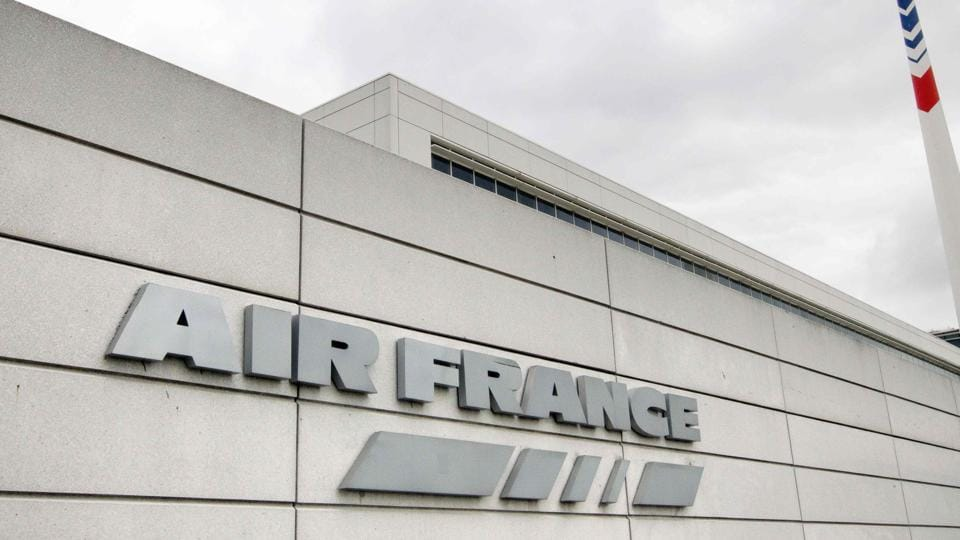 French airline company Air France's headquarters at the Roissy-Charles de Gaulle airport in Roissy-en-France, outside Paris.