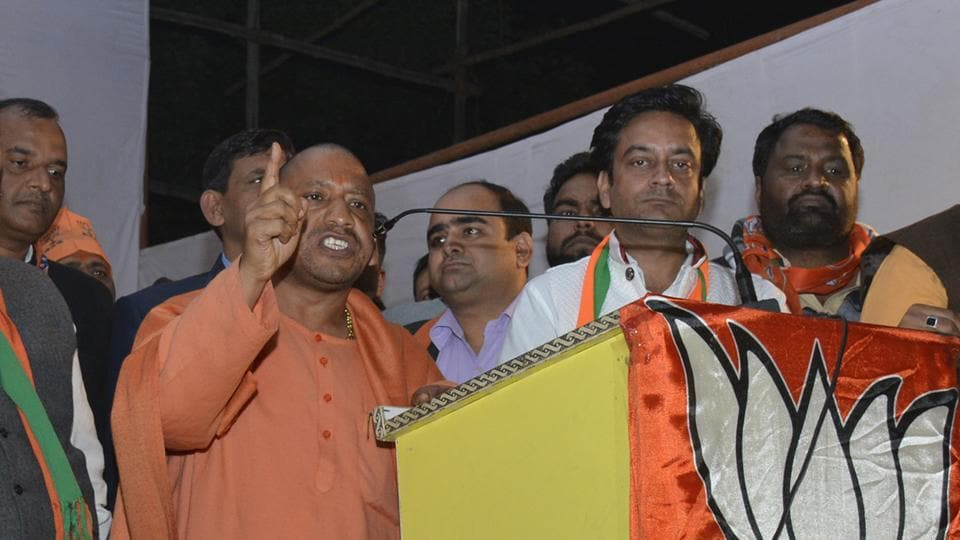 Adityanath arrived in Shalimar Garden in Sahibabad constituency from nearby Loni and addressed a public rally on Monday evening in support of BJP candidate Sunil Sharma.