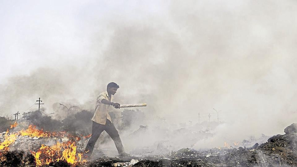 The environmental compensation for burning waste is Rs5,000 and the penalty for causing pollution at construction sites is between Rs5,000 and Rs50,000, depending on the size of the plot.
