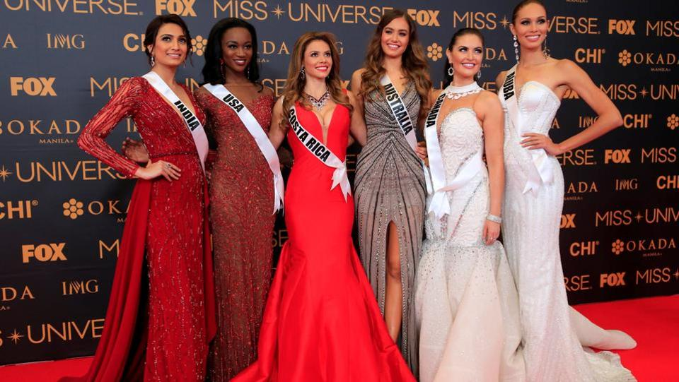 Miss India, 22-year-old Bengaluru-based Roshmitha Harimurthy (extreme left) failed it to make it to the top-13. It's been over 17 years since an Indian contestant was crowned at this pageant. Sushmita Sen (1994) and Lara Dutta (2000) are the only two winners of the Miss Universe crown from India so far. (REUTERS)