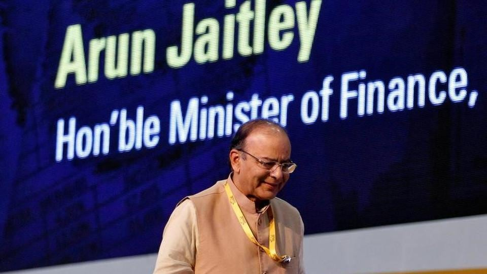 Finance minister Arun Jaitley attends a seminar on the Goods and Services Tax (GST) issues during the Vibrant Gujarat investor summit in Gandhinagar.