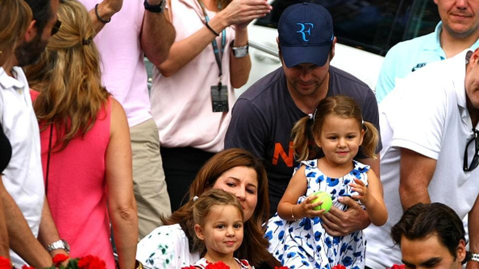 Roger and  Mirka have four children - two sets of twins. (Corbis via Getty Images)