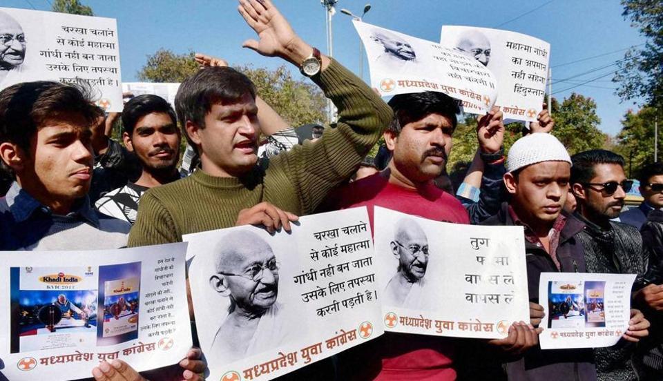 Mahatma Gandhi,Non-violence,Khadi