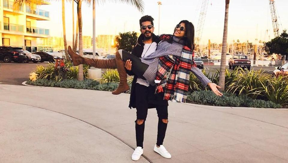 Bigg Boss contestants from the ninth season, Suyyash Rai and Kishwer Merchant are seen shopping, posing and having a really great time in the pictures.