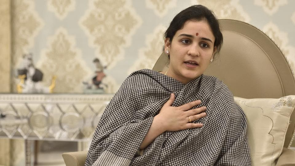 Samajwadi Party candidate from Lucknow Cantt assembly constituency Aparna Yadav.