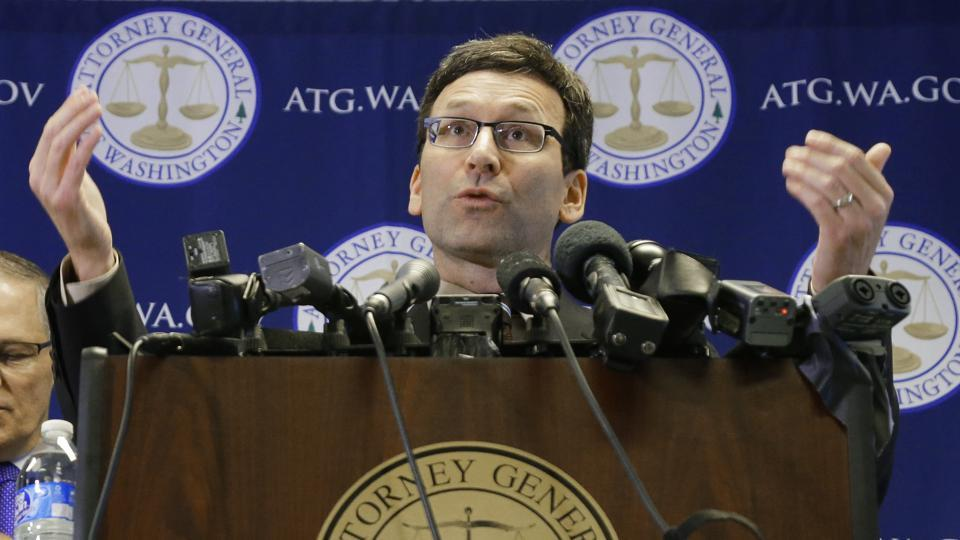 Washington attorney general Bob Ferguson announced that he is suing President Donald Trump over an executive order that suspended immigration from seven countries with majority-Muslim populations on January 30.