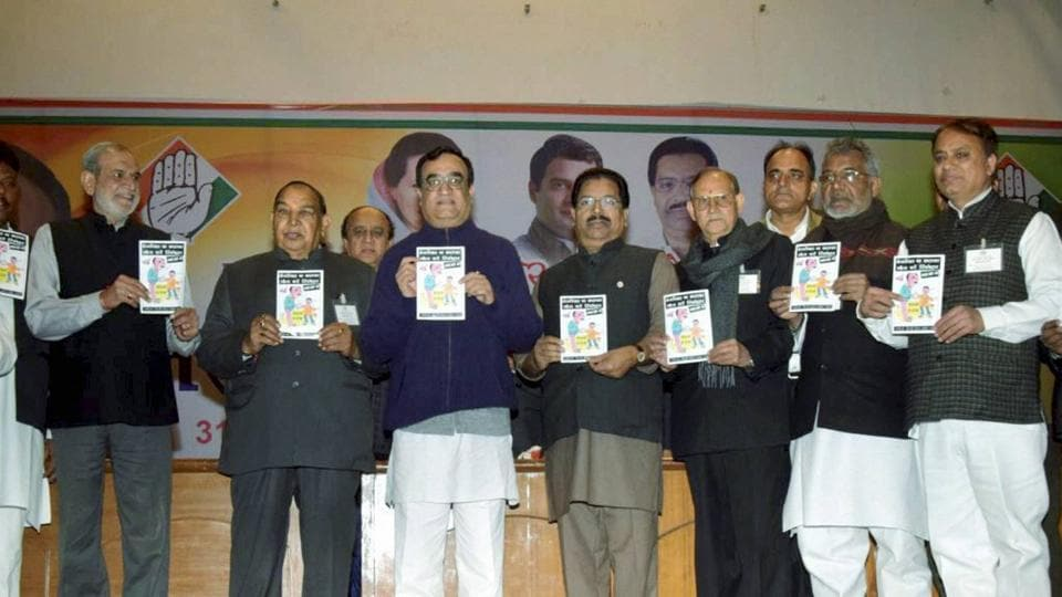 DPCC President Ajay Maken releasing a booklet on Delhi Government's corruption in New Delhi on Tuesday.