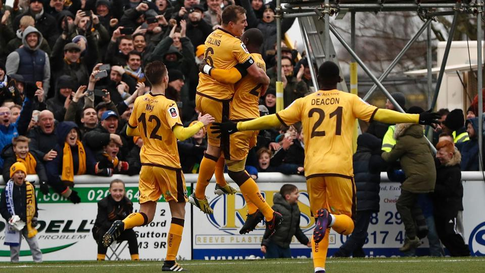 Sutton United will face Arsenal FC in the fifth round of the FACup.