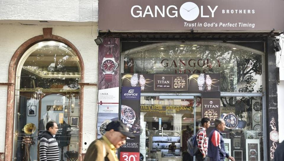 Gangoly Brothers in Connaught Place was robbed on Friday night in New Delhi.