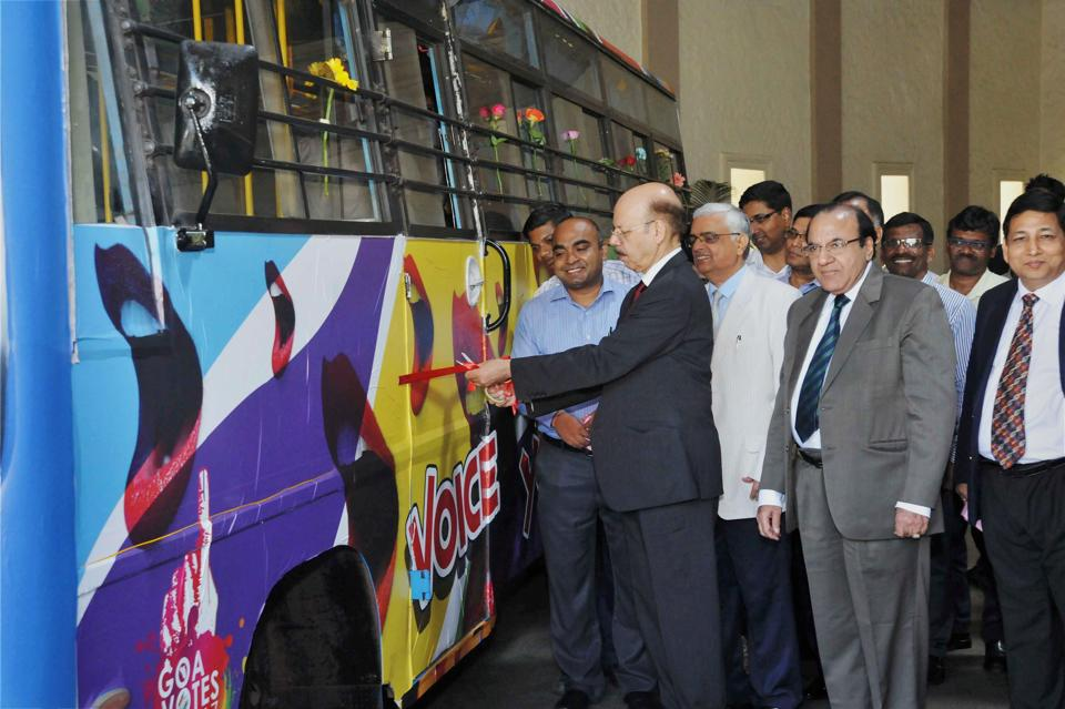Chief Election Commissioner Nasim Zaidi launches an initiative to make people aware about voting in Panaji. Polling for the 40-seat Goa assembly is slated for February 4.